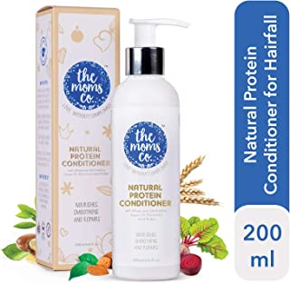 The Moms Co. Natural Protein Conditioner (200ml) with Argan Oil and Proteins Repairs, Moisturises and Detangles Hair