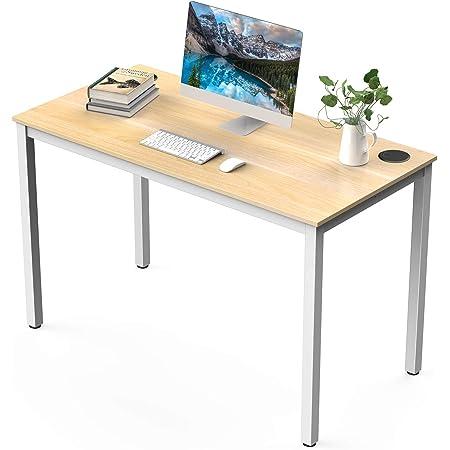 Amazon Brand - Umi Table d'Étude Grande Bureau Informatique Bois Table de Bureau pour Bureau Salon Chambre 120×60×75 CM Blanc