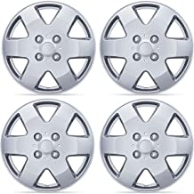 BDK KT-978-15_AMwng1 Silver 15 Inch Hubcaps Wheel Protection-4 Lug Nuts, OEM Replica Replacement Hub Cap Covers, Easy Installation, Total 4 Pieces (2 Front 2 Rear)
