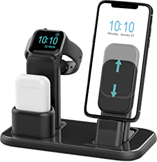Beacoo Upgraded 3 in 1 Charging Stand for iWatch Series 5/4/3/2/1, Charging Station Dock Compatible with Airpods iPhone 11/11pro/max/Xs/X Max/XR/X/8/8Plus/7 /6S /9.7 inches iPad(No Charger & Cables)