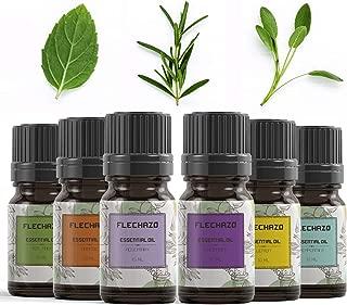 Aromatherapy Essential Oil Set, Frechazo Set of 6 Premium Grade Fragrance Oils , Lavender, Tea Tree, Peppermint, Rosemary, Lemon, Orange Essential Oils For Diffuser