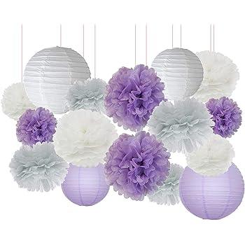Purple Zebra Baby Shower Decorations  from m.media-amazon.com