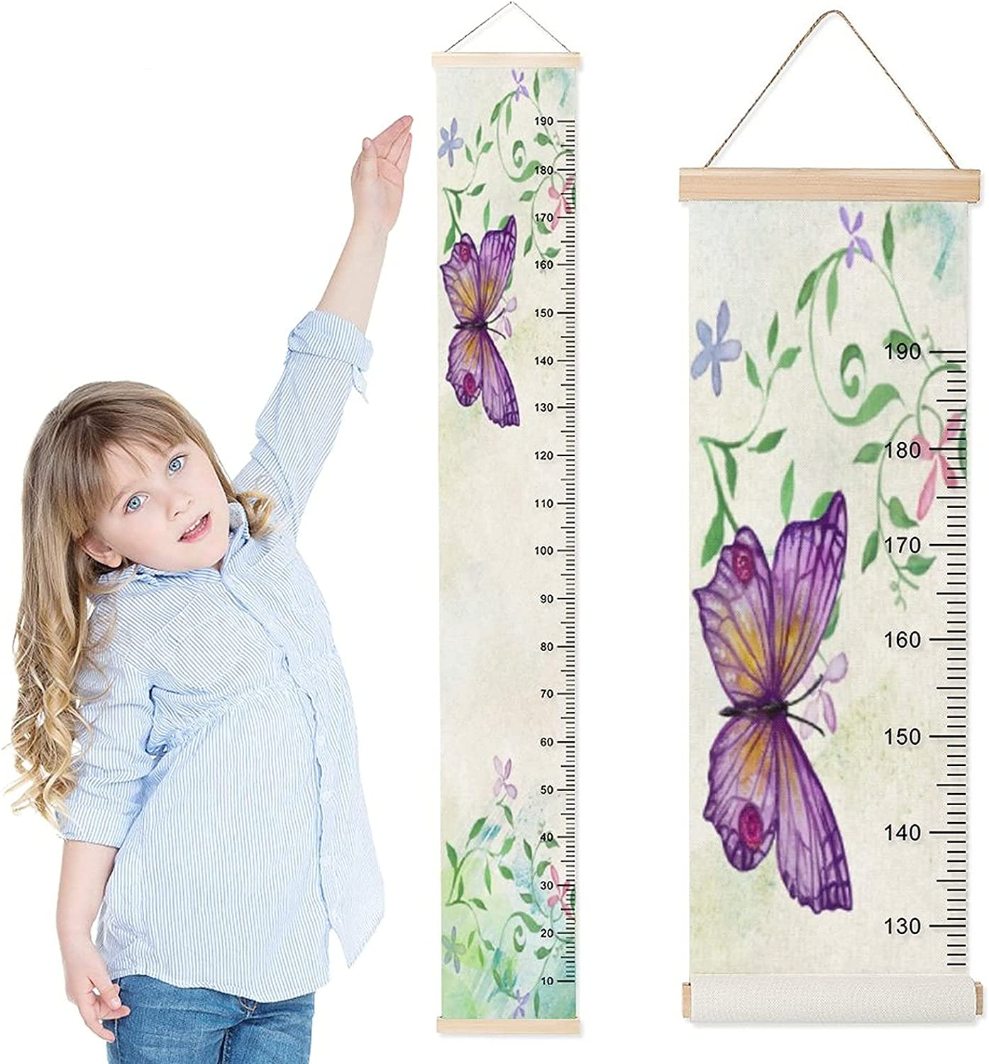 DKISEE Baby Growth Chart Child Ruler sale Max 62% OFF Wall Height Hanging f