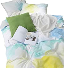 watercolor print duvet