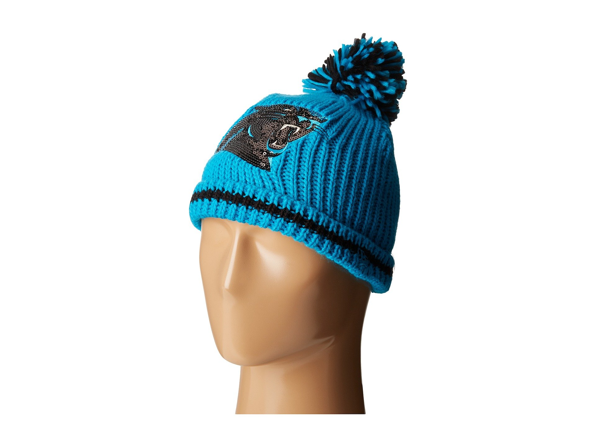 New Era Sequin Frost Carolina Panthers In Bright Blue  ed21b1b0f