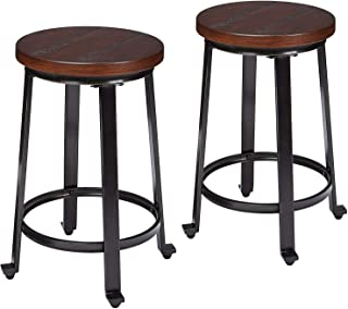 d98e35969dd Ashley Furniture Signature Design - Challiman Bar Stool - Counter Height -  Set of 2 -