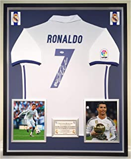061280dee8f Premium Framed Cristiano Ronaldo Autographed Signed Real Madrid Official  Jersey Shirt - PSA COA