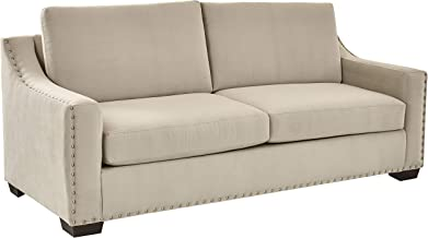 Ravenna Home Mayes Sloped Nailhead Sofa, 87
