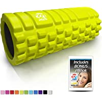 321 Strong Foam Roller Medium Density Deep Tissue Massager for Muscle Massage and Myofascial Trigger Point Release with 4K eBook (Neon Yellow)