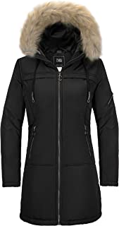 ZSHOW Women's Long Winter Parka Coat Thick Padded Puffer Jacket with Fur Hood