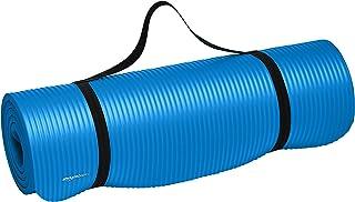 سجادة أرضية سميكة للغاية لممارسة اليوغا وصالة الألعاب الرياضية مع حزام حمل من أمازون بيسيكس