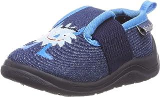 Playshoes monster, unisex barn låga tofflor, blå (jeansblå 3)