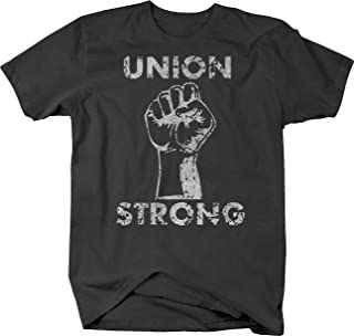 Distressed - Union Strong - Labor Power Fist UAW Trades Tshirt