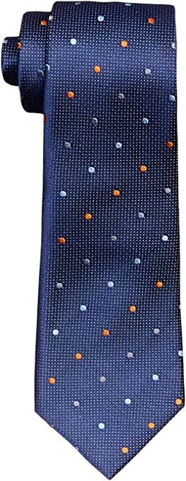 Van Heusen Men's Silk Tie, Navy Spot, One Size