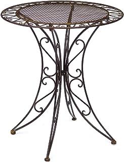Wunderschoner Gartentisch In Braun Aus Eisen Im Antik Stil