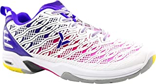 Young FUTURE01 Professional Badminton Court Shoes Non-Marking Rubber Outsole White