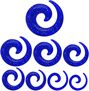 Dilitatore Spirale per estensore tunnel dilatazione plug piercing brillante 1,6 2 3 4 5 6 8 10 mm azul