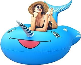FEMOR Flotador para Piscina de Whale Gigante Balsa Inflable