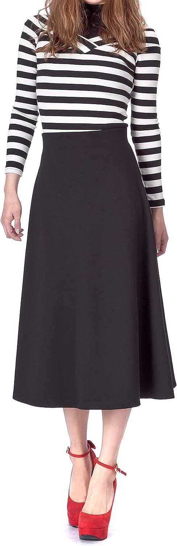 Dani's Choice Max 78% OFF Elastic Waist supreme Skirt Flared A-line Long