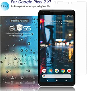 [2-Pack]Pixel 2 XL Screen Protector, Pacific Asiana Ultra Thin 0.3mm HD Clear [9H Hardness] [Anti-Scratch] [Bubble-Free] [Shockproof] Ballistic Tempered Glass Screen Cover Shield for Google Pixel XL2