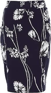 Bird by Design Womens Knee Length Skirts The Tube Skirt Navyfloral - Skirts