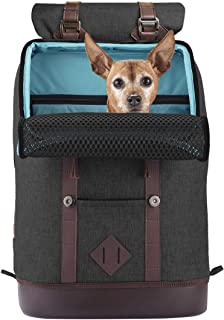 Kurgo Dog Carrier Backpack for Small Pets - Dogs & Cats | TSA Airline Approved | Cat | Hiking or Travel | Waterproof Botto...