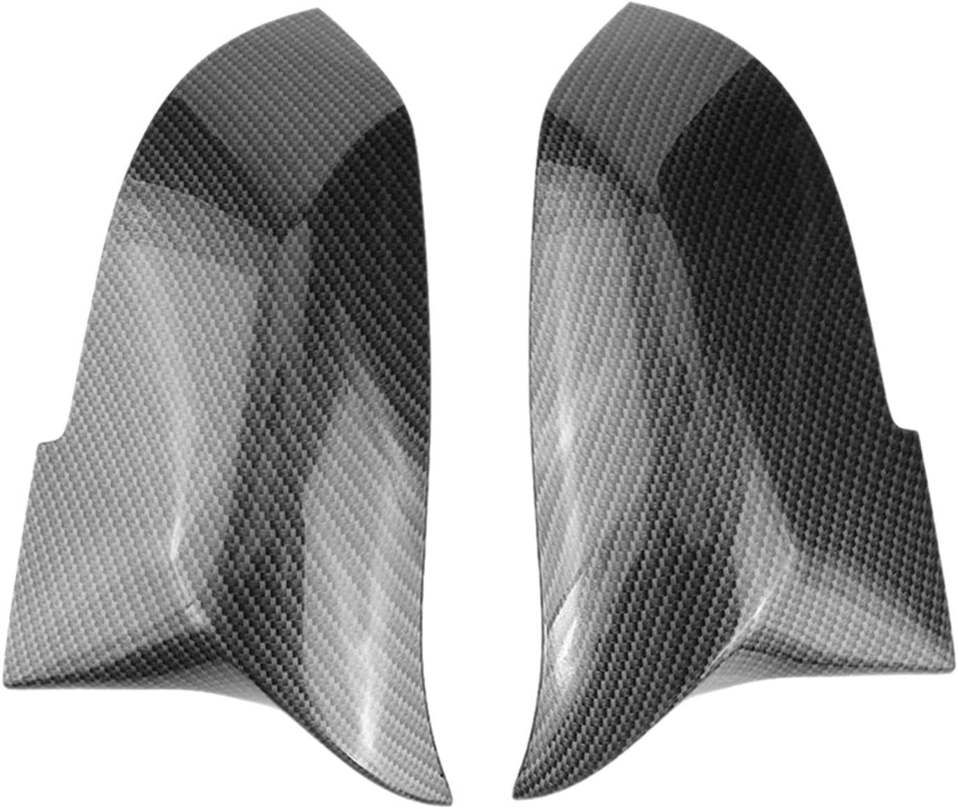 LQIAN Door Mirror Cover 1 Outlet ☆ Free Shipping Pair Fiber Rear Carbon Car online shopping View