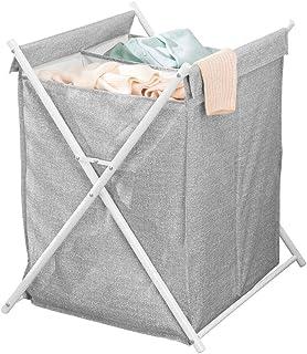 mDesign panier à linge double chacun correspondant à une charge de lave-linge – sac à linge sale amovible avec poignées – ...