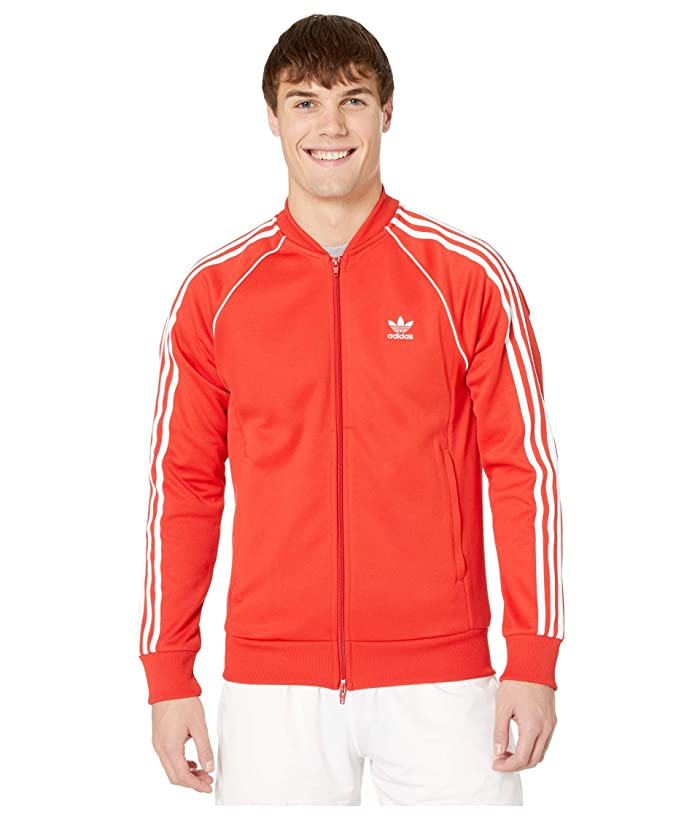 70s Jackets, Furs, Vests, Ponchos adidas Originals Superstar Track Top Lush Red Mens Sweatshirt $55.99 AT vintagedancer.com