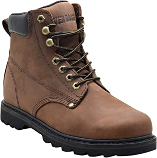 "EVER BOOTS ""Tank"" Men's Soft Toe Oil Full Grain Leather Insulated Work Boots Construction Rubber Sole"