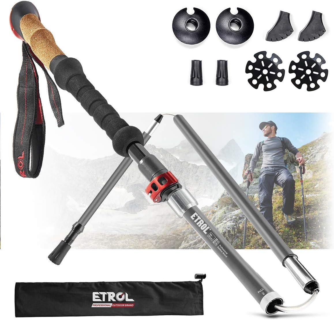 ETROL Trekking Poles-Adjustable Walking El Paso Mall Sticks-Collapsible Fashion Quic