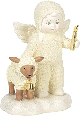 Department 56 Snowbabies Peaceful Kingdom I'll Light The Way Figurine, 4.75 Inch, Multicolor