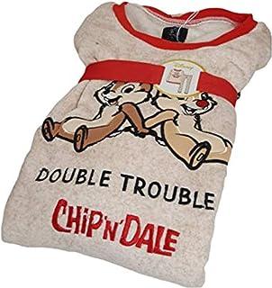 Disney Chip N Dale - Ropa de Noche para Mujer (Forro Polar)