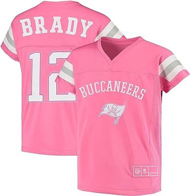 Tom Brady Tampa Bay Buccaneers #12 Girls Sizes 7-16 Player Name & Number Pink Jersey