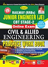 Kiran's Railway (RRBs) Junior Engineer (JE) CBT Stage-2 Online Exam Civil & Allied Engineering Practice Work Book - English(2580)
