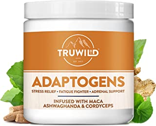 ADAPTOGENS Adrenal Support Stress Relief Blend - Ashwagandha, Maca, Siberian Ginseng, Cordyceps Mushroom, Holy Basil, Astragalus, Gotu Kola - 60 Capsules