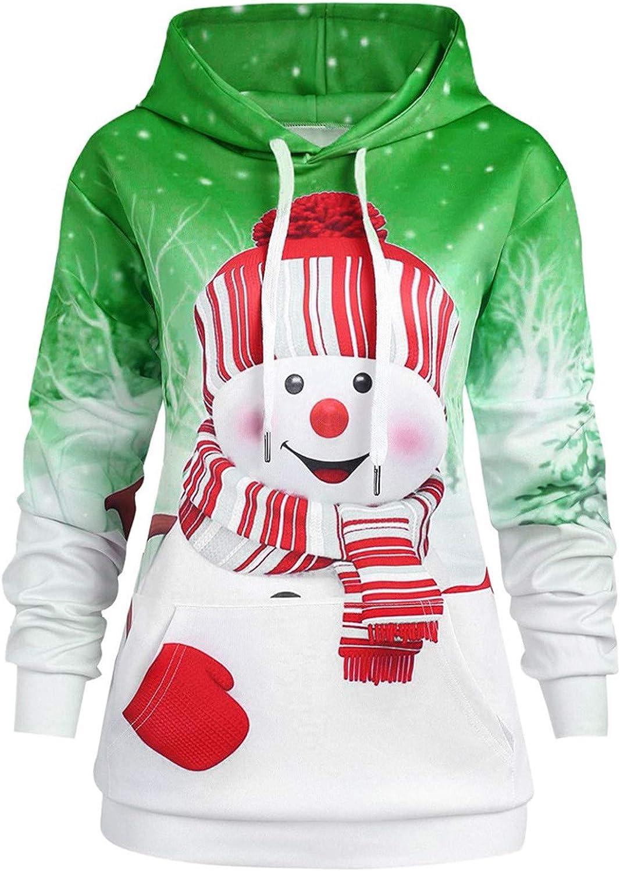 ZYAPCNGN Women Christmas Hoodie Sweatshirt C Max 85% OFF Big Pocket Pullover safety