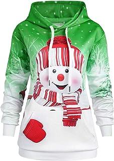 Auifor Langarm-Kapuzenshirt für Frauen Pullover Mit Kapuze