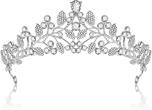 Young & Forever Mesmerizing Alive in The Night Diamonte Bridal Headband Crown Hair Accessories for Women Silver Cubic...