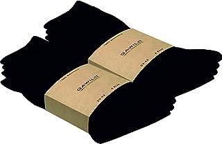 GAWILO, 8 pares de calcetines de algodón natural, para hombre y mujer, 100 % algodón natural, sin costuras, resistentes a altas temperaturas, acanalado 1:1