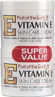 Fruit of the Earth Vitamin-E Cream 4 Ounce Jar - 2 pack