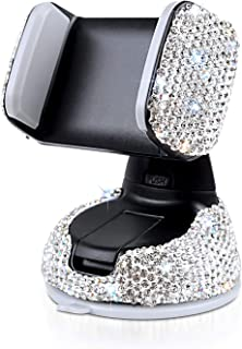 Sponsored Ad - Bling Cell Phone Cradles Rhinestone Crystal Car Interior Decoration Universal Cell Phone Holder Clip with A...