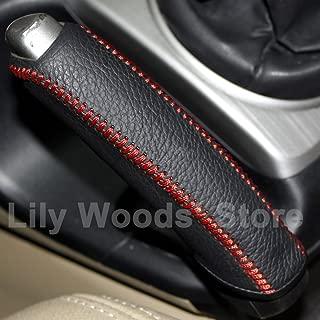 Black Genuine Leather Handbrake Cover for Honda Civic Old Civic 2006 2007 2008 2009 2010 2011