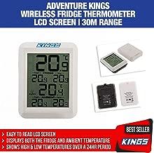 Wireless Fridge Freezer Thermometer LCD Screen 30m Range Adventure Kings