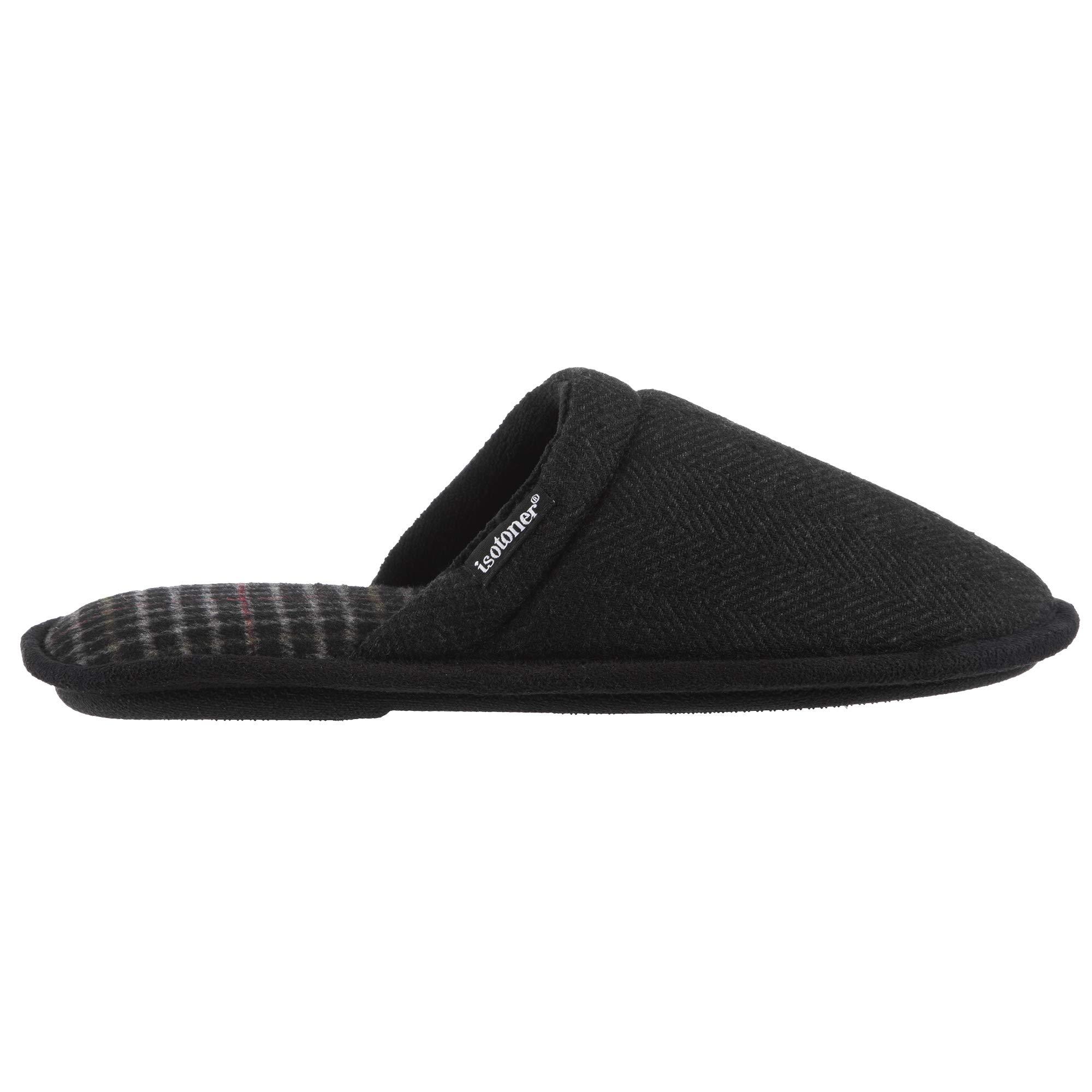 Image of Slip On Black Scuff Slippers for Men