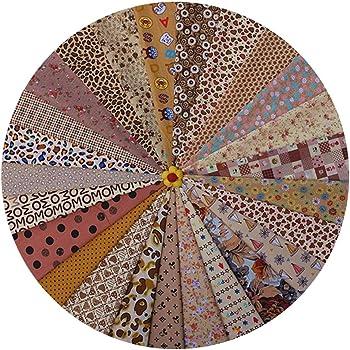 Baifenzhi 25 Piezas Tela de Retazos de algodón Tela de Costura de algodón Cuadrado 20x30cm Paquetes de Tela de algodón Impresos con Flores para Coser Acolchados Manualidades DIY-Marrón: Amazon.es: Hogar