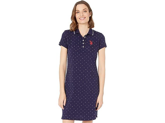 U.S. POLO ASSN. Dot Polo Dress