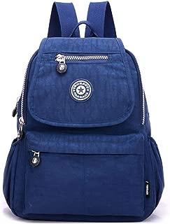 Fadsace Women Waterproof Nylon Backpack Lightweight Strong Hiking Camping Cycling Packback Daypack (Blue)