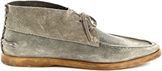 LEONARDO SHOES Luxury Fashion Mens M40201VELOURGREY Grey Ankle Boots | Season Permanent