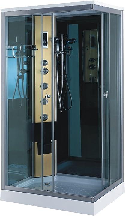 Box doccia idromassaggio arredo bagno mod. portofino 100x70cm con radio e luce new B07PGQLFJV